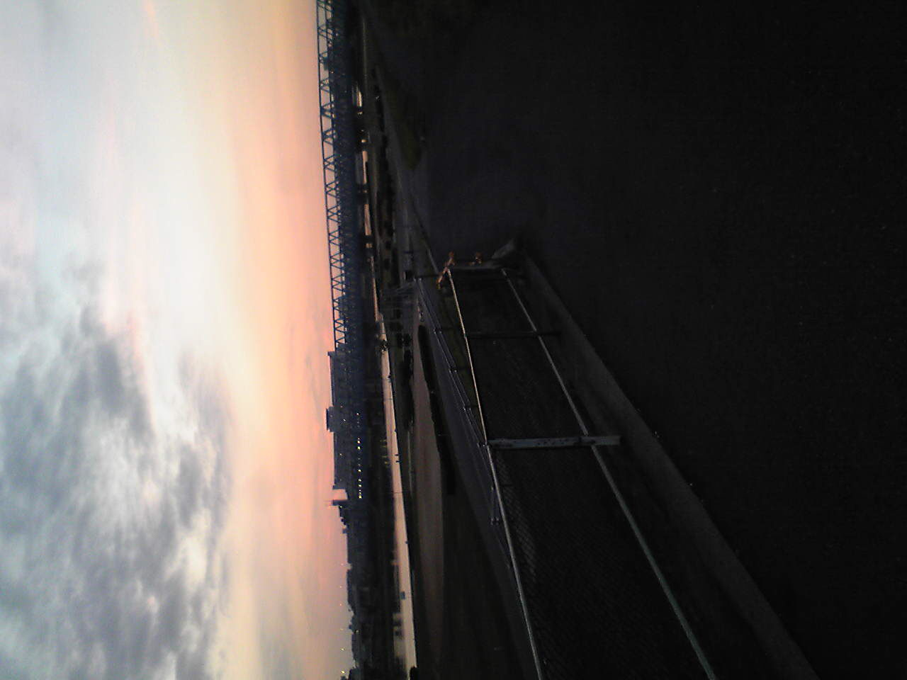 荒川。高架をいけないから渡るのが大変。
